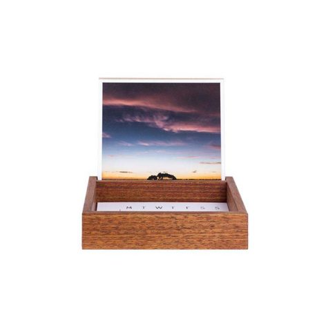 Desk Organiser with Fine Art Prints & Calendar - Tasmanian Blackwood - Handmade by The Authentic