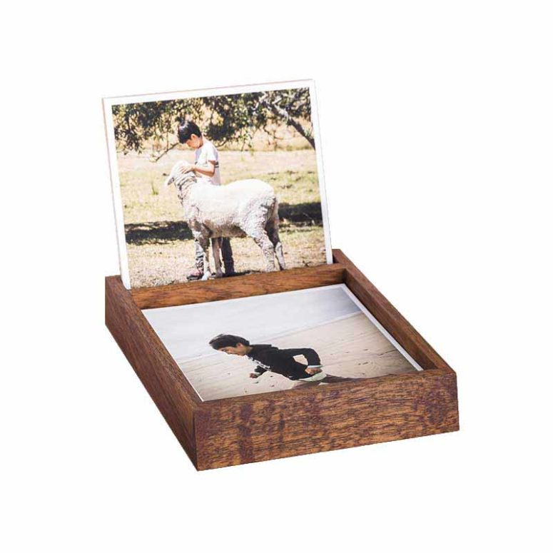 Desk Organiser with Fine Art Prints - Tasmanian Blackwood - - Handmade by The Authentic