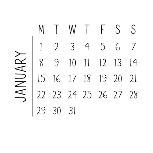 Desk calendar - The Authentic