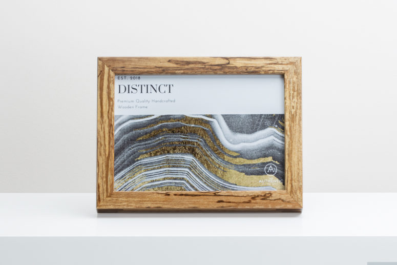 Distinct - Tasmanian Myrtle - 5x7 - Frame A - 101 - Handmade by The Authentic