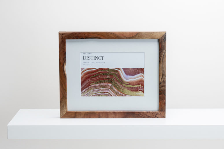 Distinct - Tasmanian Myrtle - 8x10 -Frame A - 103 - Handmade by The Authentic