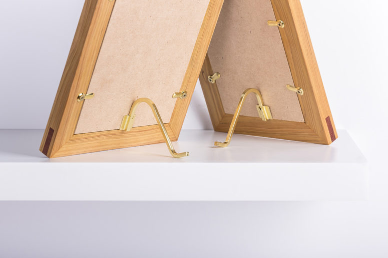 Evergreen Frames back brass detail - Handmade by The Authentic