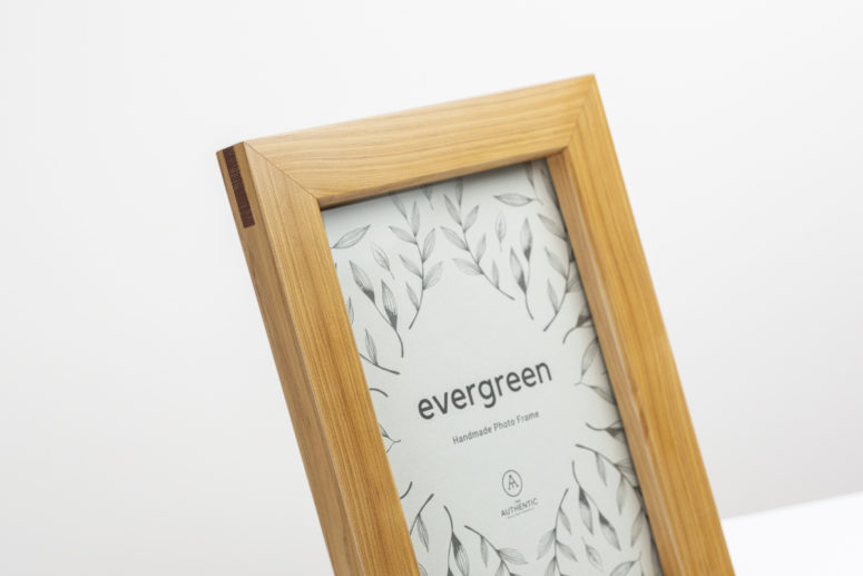 Evergreen - Pine - 5x7 -Wooden Spline - Handmade by The Authentic