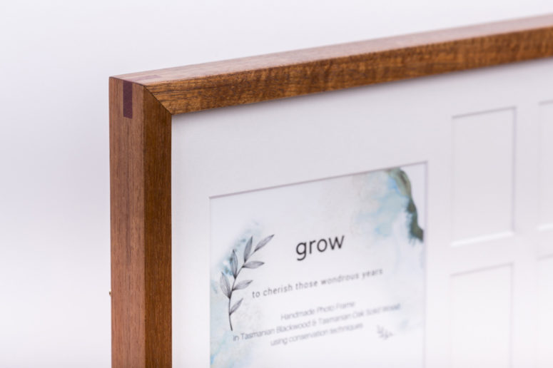 Grow Photo Frame - Tasmanian Blackwood - S - top corner - Handmade by The Authentic