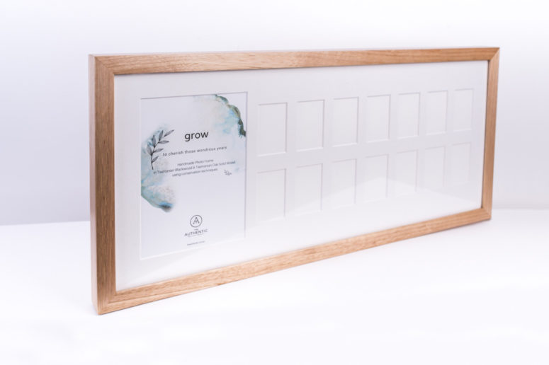 Grow Photo Frame - Tasmanian Oak - L side - Handmade by The Authentic