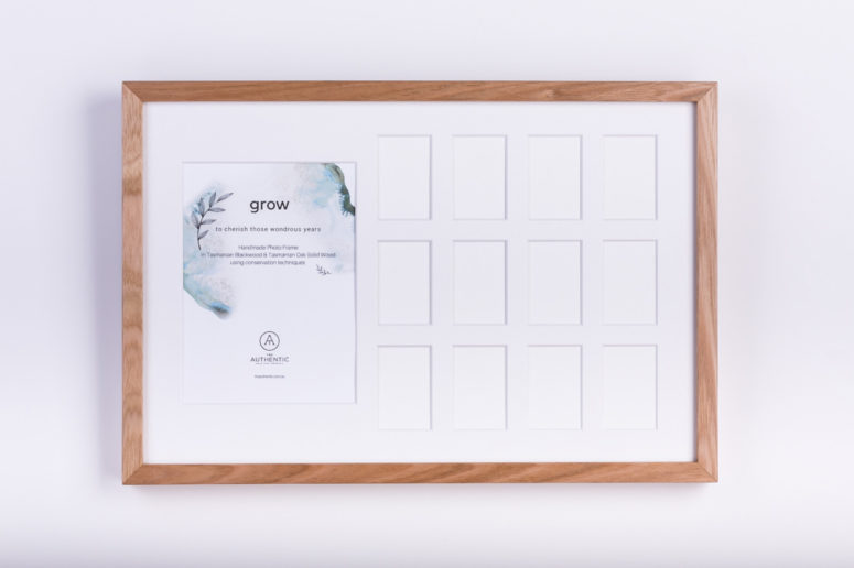 Grow Photo Frame - Tasmanian Oak - S - front - Handmade by The Authentic
