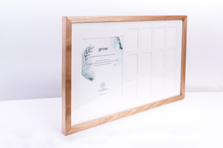 Grow Photo Frame - Tasmanian Oak - S - side - Handmade by The Authentic