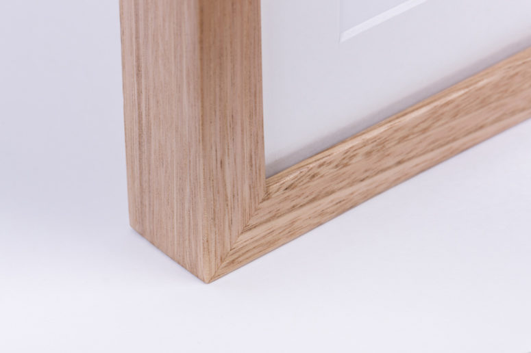Grow Photo Frame - Tasmanian Oak - bottom corner close up - Handmade by The Authentic
