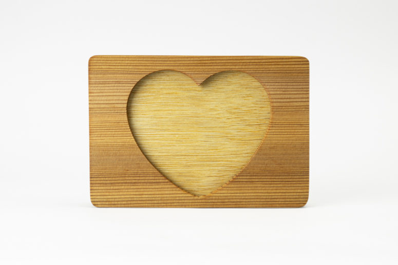 Heart of Gold - Double Sided Frame - Red Cedar - L - Handmade by The Authentic