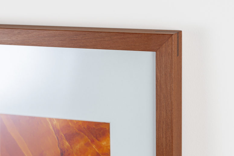Impact frame - African Mahogany - 20x30 -Handmade by the Authentic