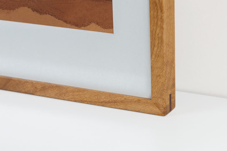 Impact frame - Silky Oak - 20x30 -Handmade by the Authentic