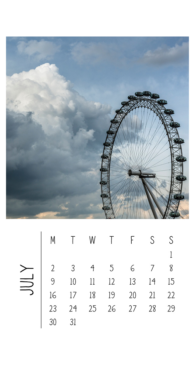 Wall Calendar - London - The Authentic