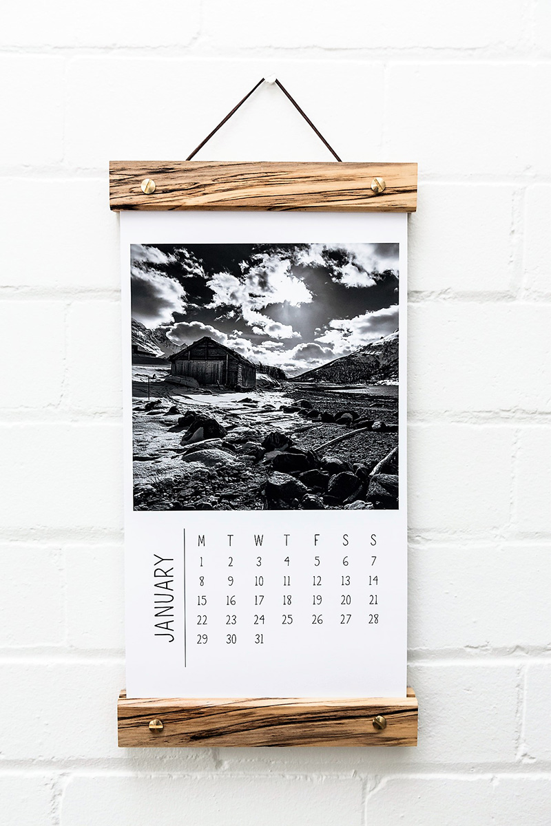 Wall Calendar Hanging Bar | The Authentic